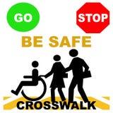 Seguridad del paso de peatones Imagen de archivo
