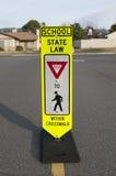 Seguridad 2 del paso de peatones de la escuela Imagen de archivo libre de regalías