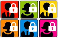 Seguridad del perfil libre illustration