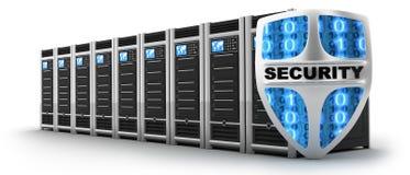 Seguridad del servidor y del escudo Foto de archivo libre de regalías