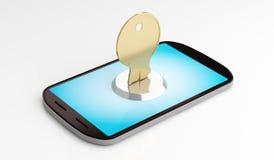 Seguridad del teléfono móvil Imagen de archivo libre de regalías
