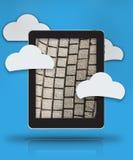 Seguridad digital superior de la nube libre illustration