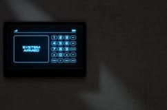 Seguridad en el hogar interactiva moderna stock de ilustración