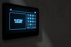 Seguridad en el hogar interactiva moderna ilustración del vector