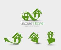 Seguridad en el hogar Logo Set Imagen de archivo