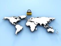 Seguridad en el mundo Ilustración del Vector
