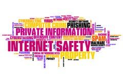 Seguridad en línea Foto de archivo libre de regalías