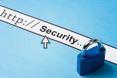 Seguridad en línea foto de archivo
