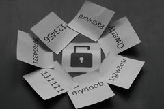 Seguridad en línea Imagenes de archivo
