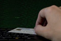 Seguridad en línea de Internet del pago Fotos de archivo