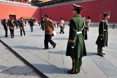 Seguridad en la ciudad Prohibida Pekín China Fotografía de archivo