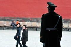 Seguridad en la ciudad Prohibida Pekín China Imagenes de archivo