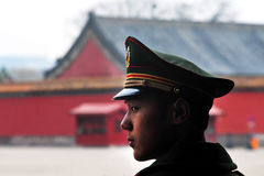 Seguridad en la ciudad Prohibida Pekín China Foto de archivo libre de regalías