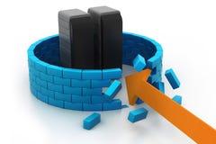 Seguridad estrellada del servidor Imagen de archivo libre de regalías