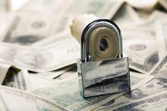 Seguridad financiera Imágenes de archivo libres de regalías