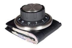 Seguridad financiera Tomar el control de las finanzas personales fotos de archivo