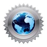 Seguridad global del mundo ilustración del vector