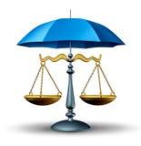 Seguridad legal ilustración del vector