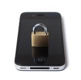 Seguridad móvil del Internet Imágenes de archivo libres de regalías
