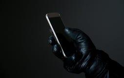 Seguridad móvil y cibernética fotografía de archivo