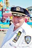 Seguridad Nueva York 2016 de la competencia de la consumición del perrito caliente de Nathan Imagenes de archivo