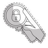 seguridad o imagen relativa a la vida privada de los iconos Imágenes de archivo libres de regalías