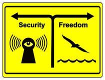 Seguridad o libertad Fotografía de archivo