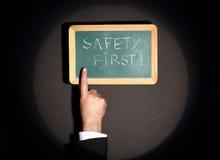 Seguridad primera Imágenes de archivo libres de regalías