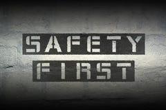 Seguridad primera Imagen de archivo libre de regalías
