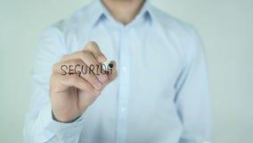 Seguridad Primero, escrita da segurança em primeiro lugar no espanhol no vidro video estoque