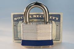 Seguridad Social bloqueada Imagen de archivo libre de regalías