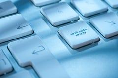 Seguridad social de los media foto de archivo libre de regalías