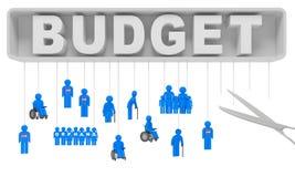 Seguridad Social del recorte presupuestario Fotografía de archivo libre de regalías