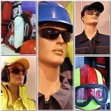 Seguridad y collage de la expo del salvavidas Foto de archivo libre de regalías
