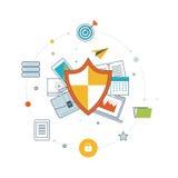 Seguridad y protección de datos sociales de la red Fotografía de archivo