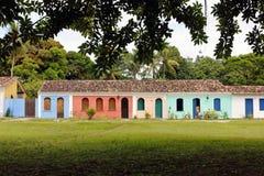 Порту Seguro - исторический бразильский тропический город Стоковые Фотографии RF