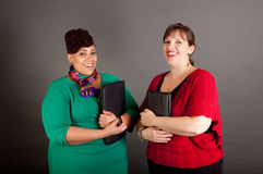 Seguro amadureça-se mais mulheres de negócio do tamanho Foto de Stock Royalty Free