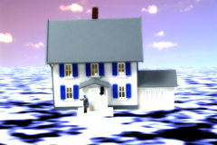 Seguro contra inundações ilustração do vetor