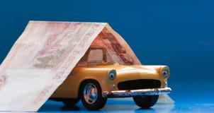 Seguro da compra, da venda ou de carro Imagens de Stock