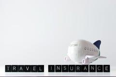 Seguro da viagem aérea Imagem de Stock