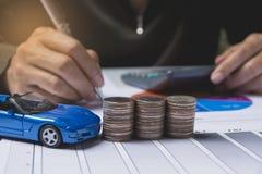 Seguro de carro e conceito dos serviços do carro Conceito do negócio Fotografia de Stock Royalty Free