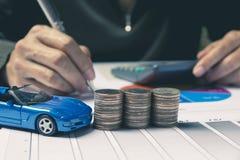 Seguro de carro e conceito dos serviços do carro Conceito do negócio Fotos de Stock