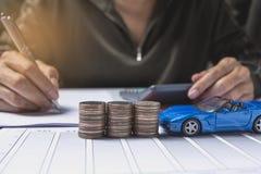 Seguro de carro e conceito dos serviços do carro Conceito do negócio Imagens de Stock Royalty Free