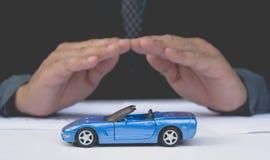 Seguro de carro e conceito dos serviços do carro Proteção do carro Imagens de Stock