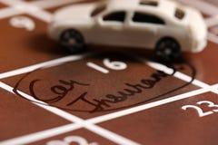 Seguro de coche imagen de archivo libre de regalías