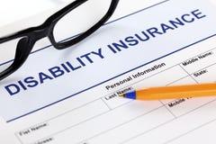 Seguro de invalidez Imagens de Stock Royalty Free