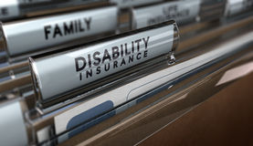 Seguro de invalidez Imagens de Stock