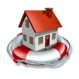Seguro de la casa Imagen de archivo libre de regalías