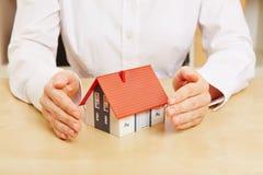 Seguro de las propiedades inmobiliarias Foto de archivo libre de regalías