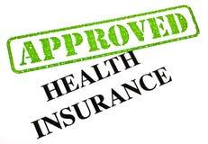Seguro de saúde APROVADO Imagens de Stock Royalty Free